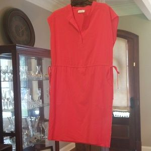Calvin Klein Coral Dress with Side Ties